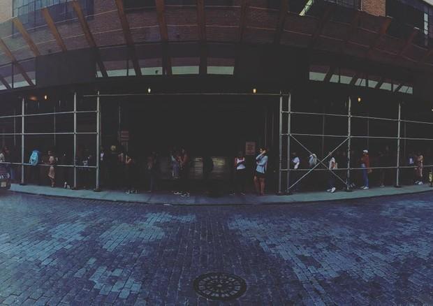 A fila formada por causa do casting (Foto: Reprodução/Instagram)