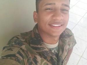 Soldado lotado em Porto Velho estava fazendo segurança em Guajará (Foto: Arquivo Pessoal)