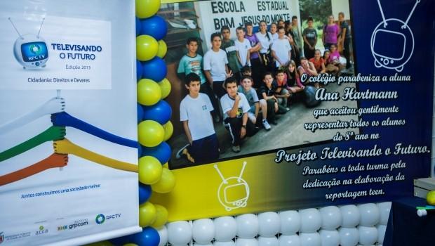 As premiações do projete aconteceram nas escolas dos vencedores (Foto: Divulgação/RPCTV)