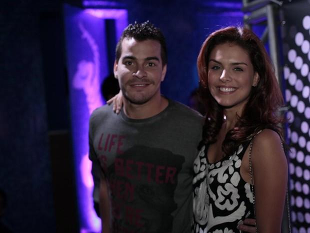 Thiago Martins e Paloma Bernardi em festa de Preta Gil no Rio (Foto: Isac Luz/ EGO)