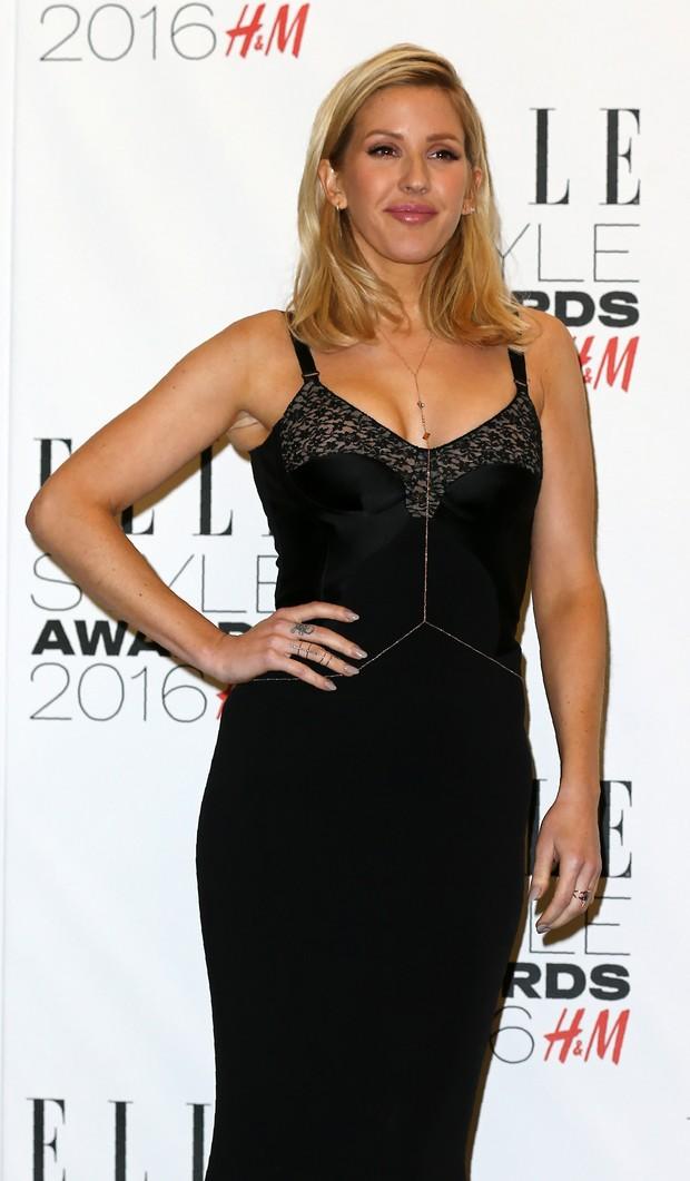 Ellie Goulding em premiação em Londres, na Inglaterra (Foto: Justin Tallis/ AFP)
