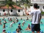 Usuários do PSF de Nova Serrana têm aulas grátis de hidroginástica