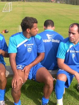 Givanildo, Romarinho e elenco do Rio Claro (Foto: Assessoria RCFC)