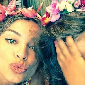 Grazi e a filha Sophia! Que lindas, não é? (Foto: Arquivo Pessoal)