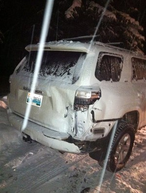 Acidente de carro Lance Armstrong (Foto: AP Photo/Aspen Police Department)