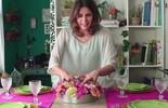 Faça um arranjo de mesa com forma de pudim e copos de vidro (TV Globo)