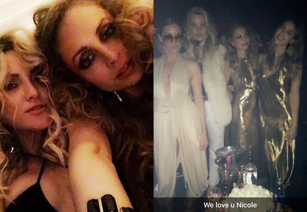 Nicole Richie recebeu famosos como Kate Hudson e Jessica Alba (Foto: Reprodução)