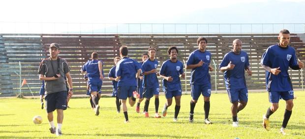 Treino Atlético Mogi (Foto: Thiago Fidelix)