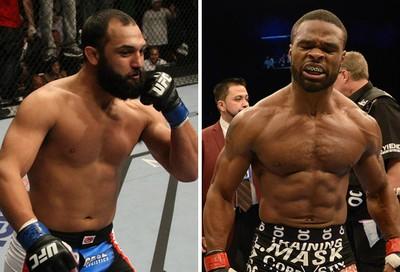 montagem MMA Johny Hendricks x Tyron Woodley (Foto: Montagem sobre foto da Getty Images)