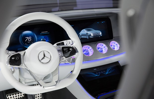 Painel digital da Mercedes com processador NVidia (Foto: NVidia)
