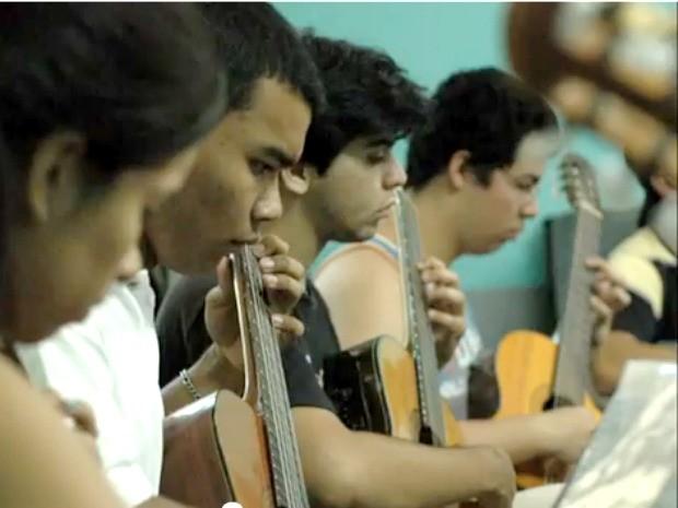 Orquestra de violões de campo grande MS (Foto: Laura Toledo/G1 MS)
