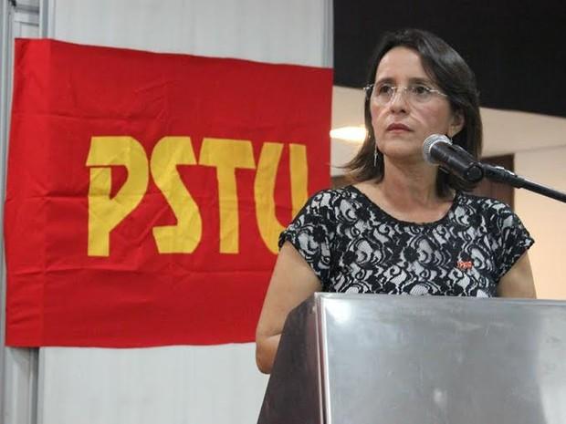 Simone Dutra, candidata ao Governo do Rio Grande do Norte pelo PSTU (Foto: Fernanda Soares/Assessoria)