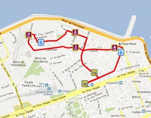 Circuito Rio Antigo : Percurso da etapa porto maravilha do circuito rio antigo é