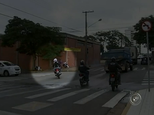 Itapetininga registra quatro acidentes de moto por dia (Foto: Reprodução/TV TEM)