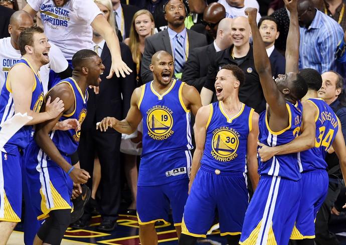 Golden State Warriors campeão da NBA 2015 leandrinho (Foto: Getty Images)