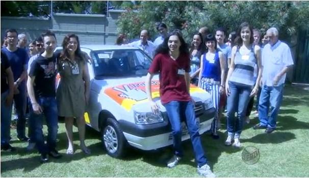 Concurso 'Virando Bixo' deu um carro zero e uma viagem para o Canadá (Foto: Reprodução EPTV)