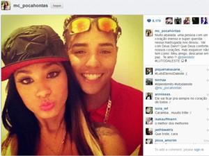 MC Pocahontas posa com MC Daleste em foto do Instagram da cantora (Foto: Reprodução)