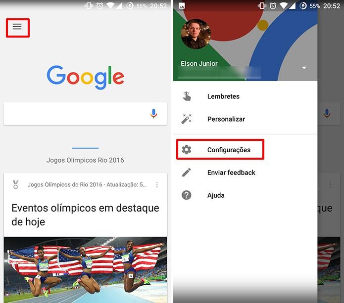 Google App pode ter conteúdo removido de pesquisas nas configurações do aplicativo (Foto: Reprodução/Elson de Souza)
