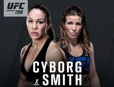 Cris Cyborg Leslie Smith UFC 198 MMA (Foto: Reprodução)