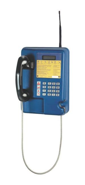 Terminal de telefonia pública, o orelhão, que usa tecnologia celular. (Foto: Divulgação/Daruma)