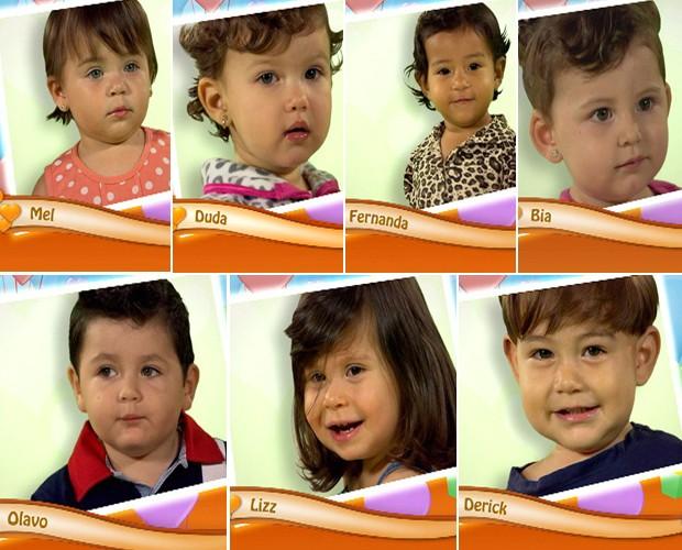 Sete figurinhas disputarão o prêmio com suas mamães (Foto: Mais Você / TV Globo)