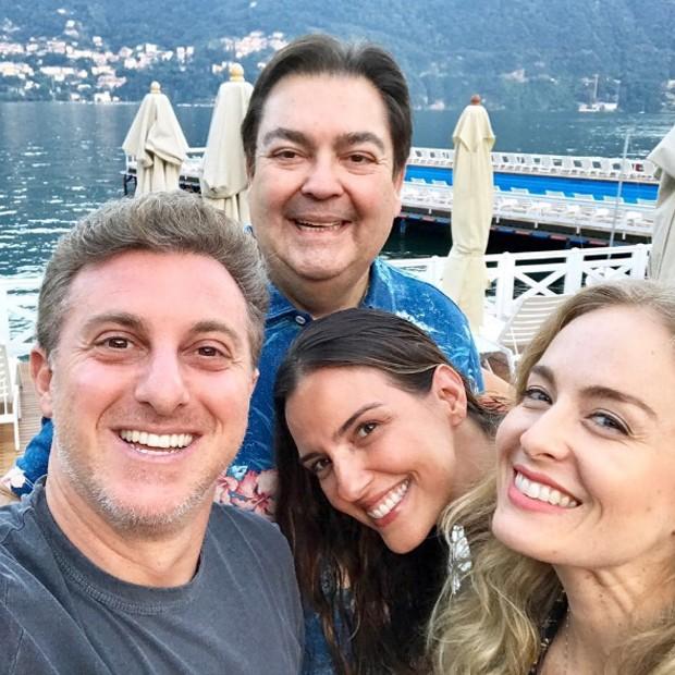 Luciano Huck, Faustão, Luciana Cardoso e Angélica na Itália (Foto: Reprodução/Instagram)