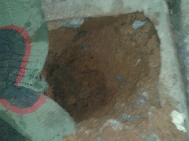 Túnel foi encontrado no pavilhão três, no presídio de Cariri do Tocantins (Foto: Divulgação)