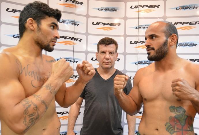 Ronny Markes Cássio Jacaré Shooto Brasil 61 MMA pesagem (Foto: Felipe Fiorito/Garra Comunicação)