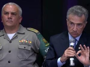 Comandante-geral, Brigada Militar, coronel Alfeu Freitas, desembargador, Tribunal de Justiça, TJ, Túlio Martins (Foto: Reprodução/G1)