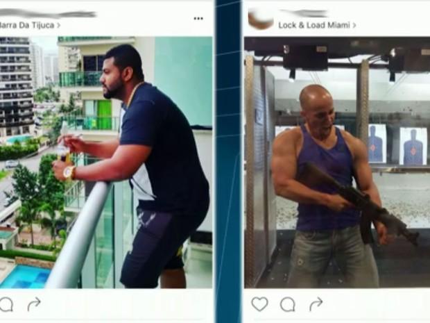 Suspeitos ostentavam luxo em redes sociais (Foto: Reprodução)
