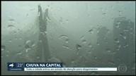 Chuva deixa Capital em estado de atenção para alagamentos por uma hora