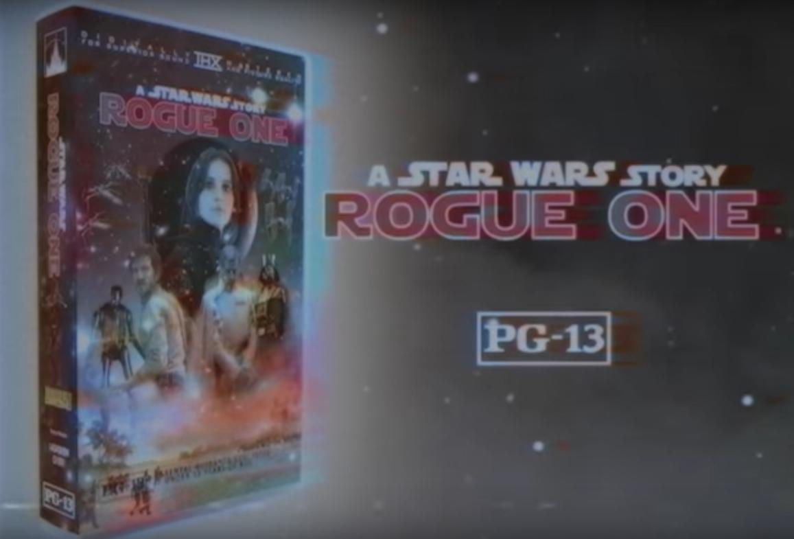 Rogue One no estilo de uma fita VHS dos anos 1970. (Foto: Reprodução/Youtube)