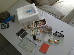 Material apreendido em posse do casal preso em Teresina (Foto: Divulgação/PM)