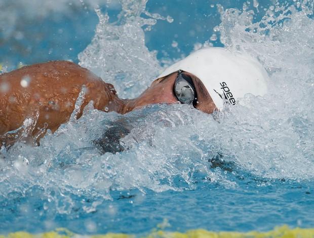Cearense Luiz Altamir representa, pela primeira vez, o CEL na natação das Olimpíadas Escolares  (Foto: Fernando Soutello/AGIF/COB)