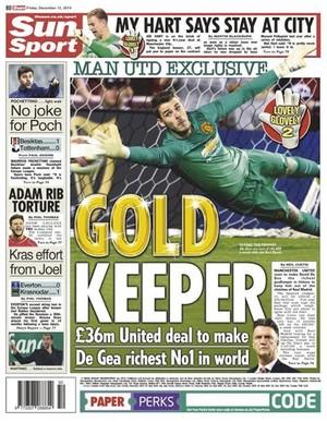 de gea manchester united jornal (Foto: Reprodução)