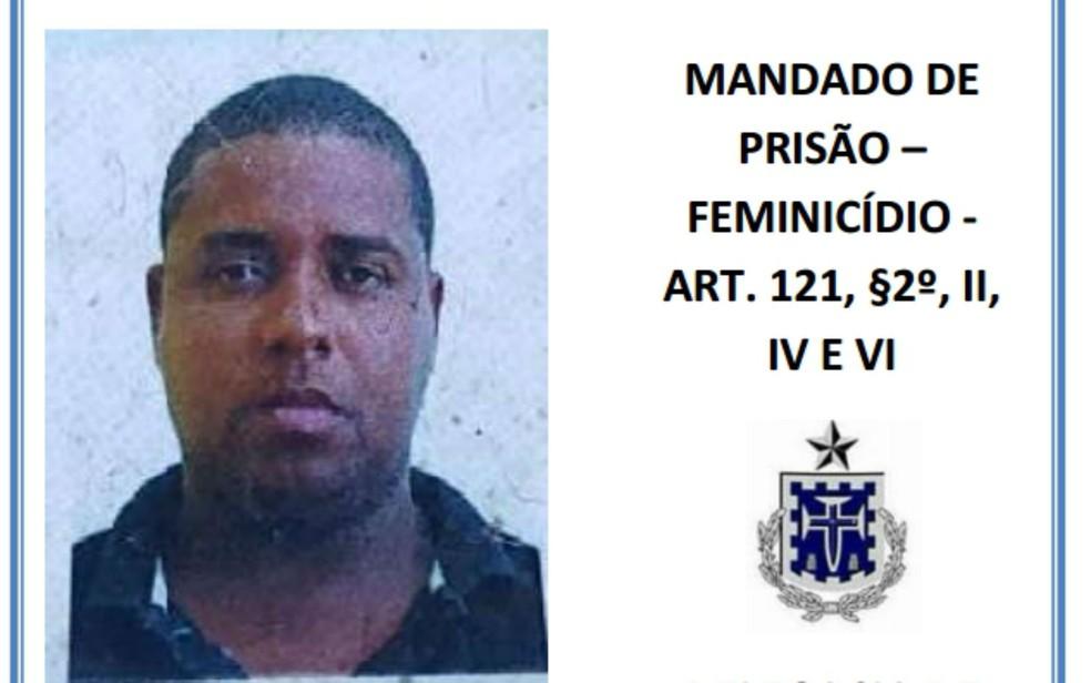 Josimar Brito Ferreira Portugal é procurado pelo assassinato da companheira, em Conceição do Jacuípe (Foto: Divulgação/Polícia Civil)