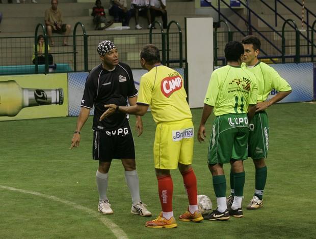 Botafogo e Palmeiras se enfrentam no showbol (Foto: Divulgação)