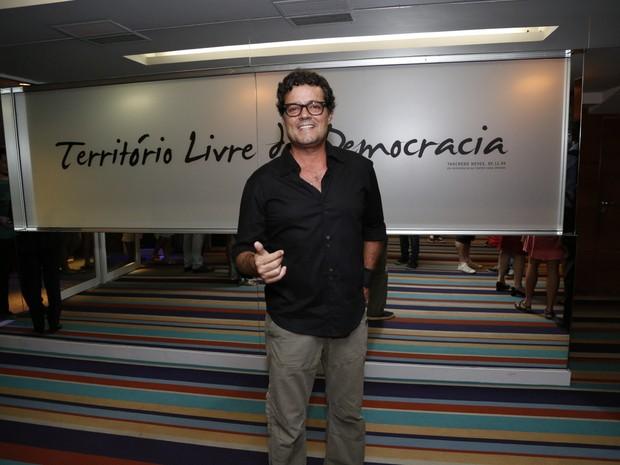 Felipe Camargo em estreia de peça na Zona Sul do Rio (Foto: Felipe Assumpção/ Ag. News)
