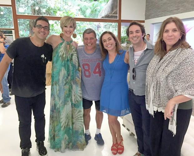 André, Claudia, Jorge Fernando, Cissa, Conrado e a diretora geral do Mais Você, Vivi De Marco (Foto: Priscilla Massena/Gshow)