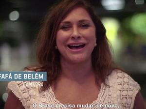 Fafá de Belém aparece na propaganda do PSDB e pede voto para Aécio Neves