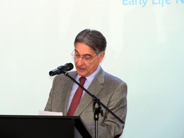 Governador Fernando Pimentel em Poços de Caldas (MG) (Foto: Jéssica Balbino/ G1)
