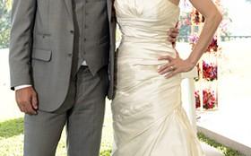 Vestido de noiva de Amanda é simples, porém superchique e com o seu estilo