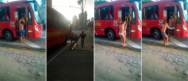 Presos do CDP da Riberia deixaram a unidade na manhã desta terça-feira (Foto: Divulgação/Sejuc-RN)