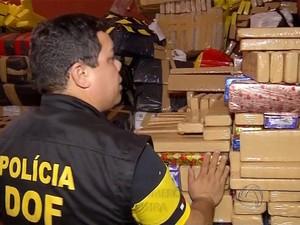 Mais de 21 toneladas de drogas serão incineradas em Dourados (Foto: Reprodução/TV Morena)