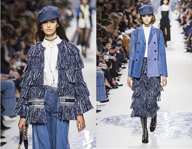 O arremate marca o jeans, no desfile da Dior (Foto: Imaxtree)