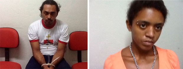 Alexandro Silva de Lima e Jorcinara Cibelle da Silva (Foto: João Costa/Polícia Civil)