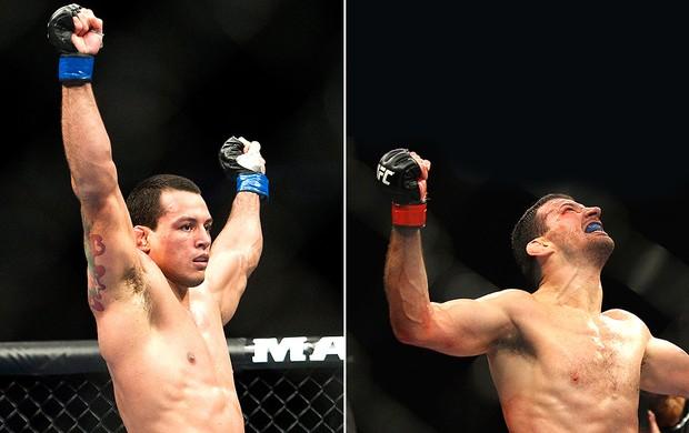 montagem UFC Vinny Magalhães Anthony Perosh (Foto: Editoria de Arte / Globoesporte.com)