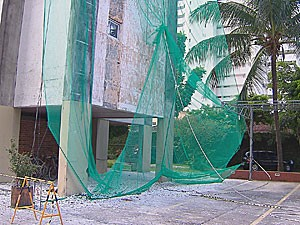 Morte de operário em obra no Recife (Foto: Reprodução / TV Globo)