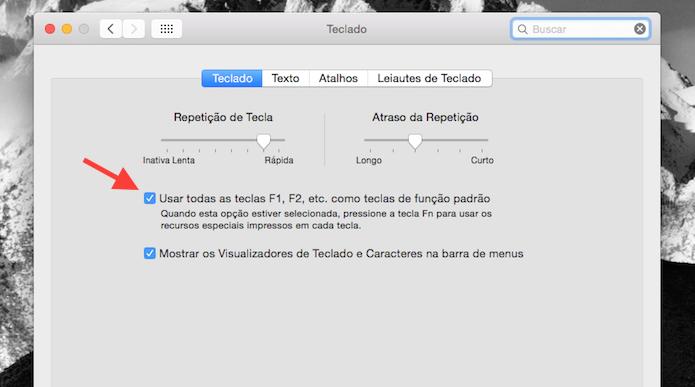 Ativando as teclas de função do Mac OS X (Foto: Reprodução/Marvin Costa)
