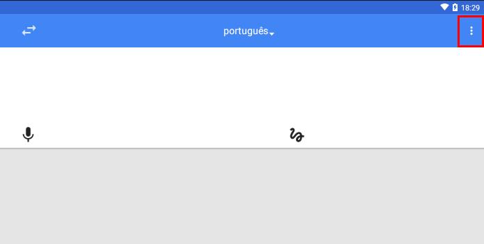 Abra o menu do app (Foto: Reprodução/Paulo Alves)